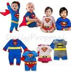 B4 Superhero Baby Toddler Boy Girl Halloween Costume w/Cape 6m-3T Supergirl USA