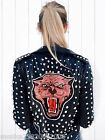 ZARA BLACK LEATHER STUDDED BIKER JACKET XS,S,M MOST WANTED ICONIC CELEBRITY!