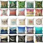 Many Beautiful Sightseeing Linen Pillow Case Standard Pillow Cover Home Decor
