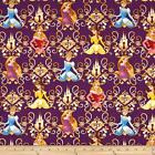 LICENSED  KEYS TO THE KINGDOM DISNEY PRINCESS QUILT SEWING FABRIC Free Oz Post