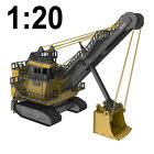 1:20 Large Scale Caterpillar 7495 Shovel Wooden Model, Heavy Mining, Great Gift