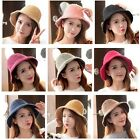 Charming Cute Warm Wool Bowknot Hat Fashion Creative Designs Mohair Caps