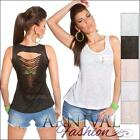 NEW SLEEVELESS SHIRTS for WOMEN 6 8 10 12 TANK TOPS for LADIES SINGLET XS S M L