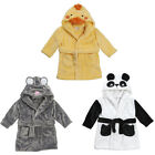 Baby Animal Duck Mouse Panda Face Hooded Fleece Dressing Gown 6 to 24 Months