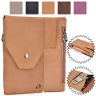 Universal Genuine Leather Vertical Protective Phone Sleeve Pouch Case Cover MO2
