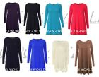 Ladies women's girls swing dress*long sleeve*tops t- shirt skater dresses vest