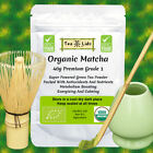Organic Matcha Green Tea Powder plus optional Whisk, Scoop, Stand, Premium, set