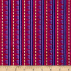 LAUREL LAND PURPLE STRIPE GILDED QUILT SEWING CRAFT FABRIC Free Oz Post