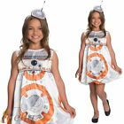 Girls Deluxe BB-8 Star Wars Costume Halloween Fancy Dress Child Outfit