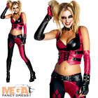 Harley Quinn Ladies Fancy Dress Super Villain Halloween Womens Adults Costume