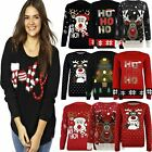3D Christmas Jumper Ladies Mens Womens Xmas Novelty Sweater Retro New Vintage