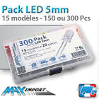Pack LED 5mm - 15 modèles - 150 ou 300 Pcs ( Compatible Arduino )