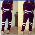 Women Girl Fashion Double C Printing Long-sleeved Casual Sportwear Sweater Sets