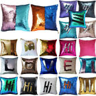 Reversible Sequin Sofa Pillow Case Cushion Mermaid Glitter Cover Back to School