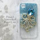 OLL Blue Crystal Octopus Glitter Bling Hard Case For Samsung iPhone 7 Plus LG G5