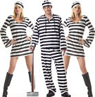 Aimerfeel ladies and men's inmate Black & White Stripes Robber L-XL