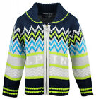Boys Soul & Glory Chunky Knit Collar Alpine Zipper Cardigan 3 to 8 Years