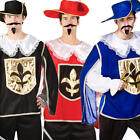 Medieval Musketeer Mens Fancy Dress Renaissance French Cavalier Adults Costume