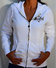 Sinful by Affliction ANGEL WINGS Women's Zip Hoodie w/ Rhinestones - S1029 White