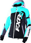 FXR Womens Black/Aqua/White Tri Revo X Snowmobile Jacket Insulated Snocross