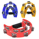 Hand Held Tambourine Bell Metal Jingles Ball Percussion Musical Toy Kid Gift