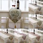 Solid Table Runner Embroidered Damask Tasseled Decoration Dining Wedding Party