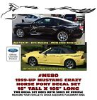 "GE-N580 MUSTANG - CRAZY HORSE PONY DECAL SET - 16"" TALL x 105"" LONG - LATE MODEL"