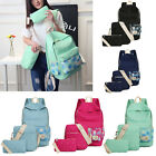 3PCS/set Travel Satchel Backpack Women Girls Rucksack Shoulder School Bag Hot