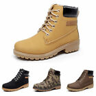 MEN BOY WORK SAFETY SHOES LEATHER BOOTS HARD TOE CAP ANKLE ARMY TRAINERS USA