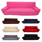 Solid Furniture Stretch Slipcover Sofa Couch Cover 3 Seater Home Slip Cover DA