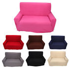 Solid Furniture Stretch Slipcover Sofa Couch Cover 2 Seater Home Slip Cover LJ