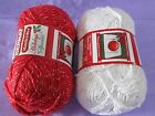HOLIDAY COTTON YARNS GREAT FOR HOLIDAY GIFTS TO KNIT OR CROCHET