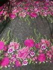 GORGEOUS FRENCH FLORAL EMBROIDERED BRIDAL TULLE LACE FABRIC 5YDS LOT