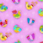 FLIGHT OF FANCY BIRDS PINK QUILT SEWING CRAFT FABRIC Free Oz Post