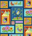 FLIGHT OF FANCY PATCH BUTTERFLY BIRDS QUILT SEWING CRAFT FABRIC Free Oz Post