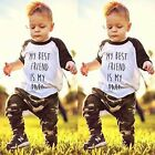 Newborn Toddler Baby Boys Girls Outfits Clothes T-shirt Tops+Long Pants 2PCS Set
