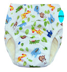 Miababy Large size Bamboo Reusable Waterproof Snaps Baby Potty Training Pants