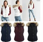 AERO Aeropostale Prince & Fox Fur Trim Hooded Puffer Vest  S,M,L,XL,2XL NEW NWT
