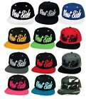 NEW WEST SIDE 3D EMBROIDERED FLAT BILL SNAPBACK CAP TRENDY HAT MANY COLORS