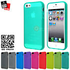 2 x Anti-Fingerprint Matte Gel Rubber Case Cover for iPhone SE 5S 5 Turquoise