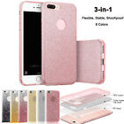 3 in 1 Ultra Thin Glitter Bling Cover Silicone TPU Case For iPhone 6 6s 7 Plus
