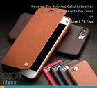 iPhone 7/7 Plus Plus Genuine Calfskin Leather Case w Flip Cover 32 processings