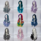 Christmas 12 Colors Long Curly Heat resistant Synthetic Anime Lolita Cosplay Wig