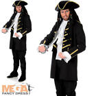 Black Pirate Mens Fancy Dress Caribbean Buccaneer Book Day Week Adults Costume