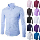 HOT Gift Mens  Long Sleeve Shirt Casual Slim Fit Stylish Dress Shirts Tops