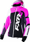 FXR Womens Black/Electric Pink/White Tri Revo X Snowmobile Jacket Insulated