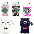 3D Cartoon Soft Silicone Rubber Gel Cover Case For iPhone Samsung Huawei Sony M5