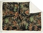 NEW Woodland Camo Plush Fleece Baby Mini Throw Gift Blanket [Choose Your Color ]