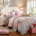 Mickey Mouse Checked Double Queen King Quilt Doona Duvet Cover Sets Pillowcases