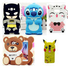 3D Cartoon Soft Silicone Rubber Gel Cover Case For iPhone 4/5/6/7G/S+ Samsung